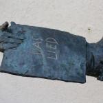 Detail der Silcher-Skulptur vom Bildhauer Prof. Karl Ulrich Nuss, 2012