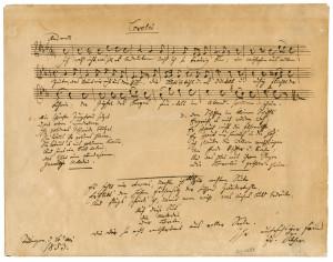 """Die Komposition Friedrich Silchers zum Gedicht """"Loreley"""" von Heinrich Heine"""