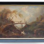 Heroische Landschaft mit Reiter, unbekannter Künstler, 1770-1820