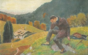 """Postkarte mit der Illustration des Liedes """"In einem kühlen Grunde"""""""