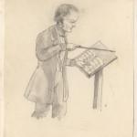 Karikatur Silchers beim Dirigieren