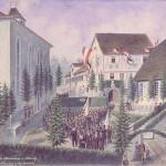 Einweihung der Gedenktafel über der Pforte, 1882